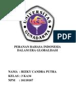 Makalah Peranan Bahasa Indonesia Dalam Era Globalisai