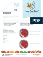 Food Therm Worksheet
