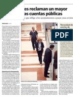 Los auditores reclaman un mayor control de las cuentas públicas