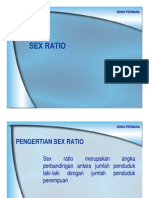 Sex Ratio Dan Dependency Ratio