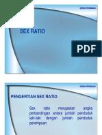 Sex Ratio Dan Dependency Ratio