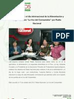 """Mujer Rural en """"La Voz del Consumidor"""" por Radio Nacional"""