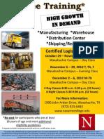 Navarro College Certified Logistics Classes - Waxahachie