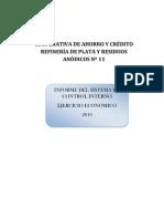 Sistema de Carta de Control Interno Crediplata 1 2