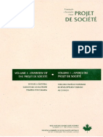 Planning for a sustainable future-Projet de société- volume 1
