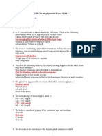SCHS Nursing Specialist Exam Model 4