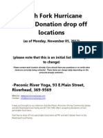 Donation Drop Off Locations, Monday Nov 5th