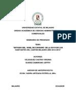 """""""ESTUDIO DEL  NIVEL DE CONSUMO  DE LA SOYA EN LOS HABITANTES DEL CANTÓN MILAGRO AÑO 2012-2013"""""""