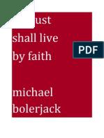 1 of 100 the Just Shall Live by Faith Michael Bolerjack