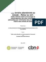 Les terrains abandonnés au Canada – Retour au vert