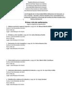 Primer Ciclo de Conferencias Doctorado S de La N