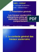 CHEBAP Trx Souterrains 2 Presentation Generale