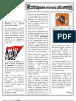 """El MIR continua en la escena politica Venezolana"""