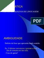 - Defeitos de Linguagem