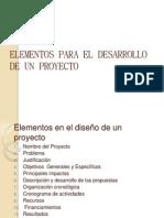 Elementos Para El Desarrollo de Un Proyecto