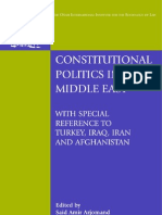 Constitutional Politics in the Middle East With Special Reference to Turkey Iraq Iran and Afghanistan Onati International Series in Law Amp Soci