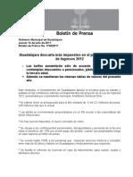 14-07-2011 Guadalajara descarta más impuestos en el proyecto de la ley de Ingresos 2012