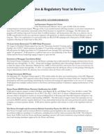 2012 NAR Legislative and Regulatory Year in Review