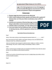 Primary and Major Issues - Catering Agreement