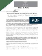 16-08-2011 Se propone no abrir más giros restringidos en Zona Minerva