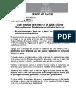 24-08-2011 Urgen medidas para abastecer de agua a la Zona Metropolitana de Guadalajara; Aristóteles Sandoval