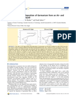 UV-Assisted Electrodeposition of Germanium From an Air- And