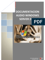 Servidor de Audio en Windows Server 2003