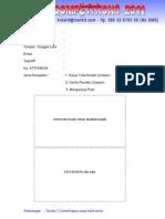 Formulir Pendaftaran Porseni