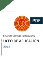 Estatuto Centro de Estudiantes Liceo de Aplicación