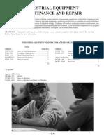 Industrial Equip Maint and Repair Degree Plan