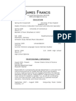 James Francis Resume