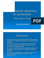 Alimentación vitamínica en acuicultura