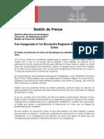 02-09-2011 Fue inaugurado el 1er Encuentro Regional de Intervención en Crisis