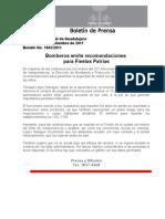 09-09-2011 Bomberos Emite Recomendaciones Para Fiestas Patrias