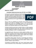 12-09-2011 Aristóteles Sandoval promocionó JP 2011 en el ITESO