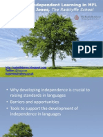 Developing Student Independence in MFL