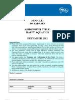 DBAS Assignment December 2012 - Final