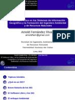 El Software Libre en los Sistemas de Información Geográfica y la Formación del Ingeniero Ambiental y de Recursos Naturales