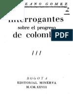 Interrogantes Sobre El Progreso de Colombia