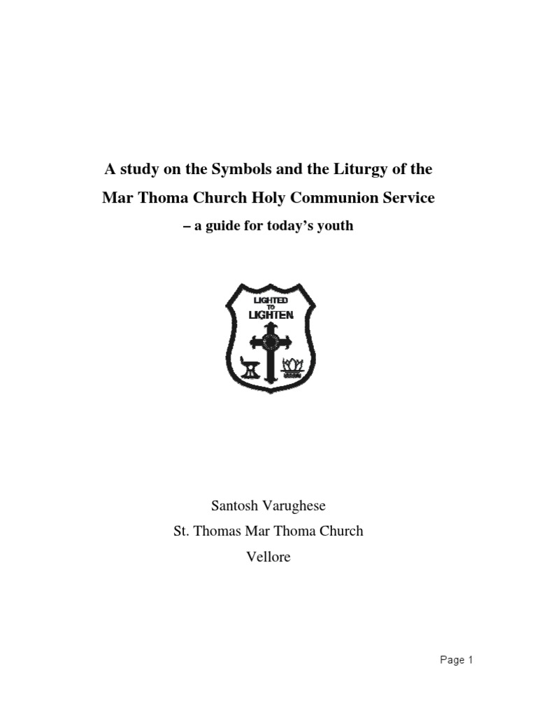 A study on the symbols and the liturgy of the mar thoma church a study on the symbols and the liturgy of the mar thoma church holy communion service a guide for todays youthsantosh worship jesus biocorpaavc Choice Image