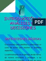 Unidad I, Introduccion Al Analisis de Decisiones