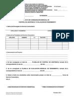 ACTA DE CONSIGNACIÓN MENSUAL DE CONTROL DE ASISTENCIA Y EVALUACIÓN DE RENDIMIENTO
