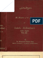 Sahih Al-Bukhari Arabic-English vol lll