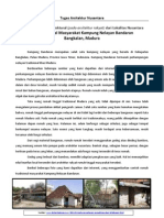 Tugas Arsitektur Nusantara - Rumah Tinggal Masyarakat Kampung Nelayan Bandaran-Bangkalan-Madura (Kelas a)