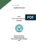 Analisis Investasi Satri