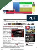 10-10-12 El Semanario - Puebla Invierte en Centro Automotriz