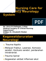Critical Nursing Care for Patient With Neurology System