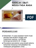Askep Pemberian Obat-obatan Medis Pada Masa Prenatal
