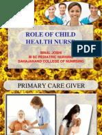 Role of pediatric nurse