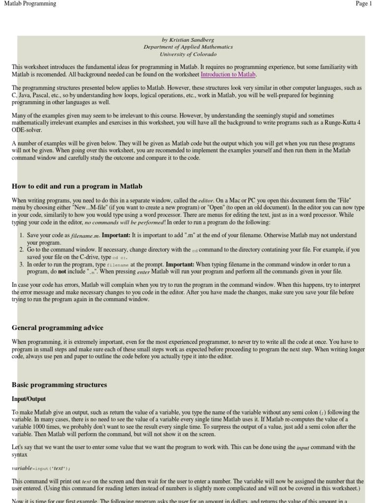 Matlab Programming | Summation | Matlab